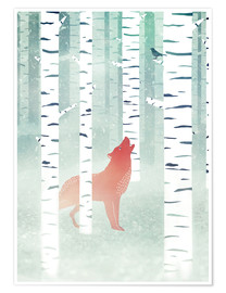 Premium poster winter fox