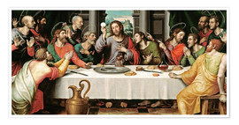 Premium poster  The last supper - Vicente Juan Macip