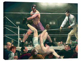 Canvas print  Dempsey and Firpo - George Wesley Bellows
