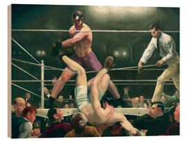 Wood print  Dempsey and Firpo - George Wesley Bellows