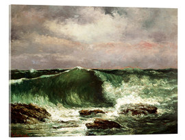 Acrylic print  Waves - Gustave Courbet