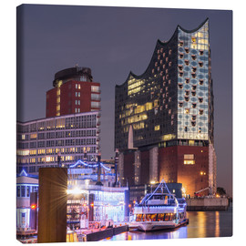 Canvas print  Elbphilharmonie and Marina in Hamburg - Markus Ulrich