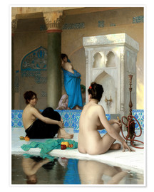 Premium poster  After the bath - Jean Leon Gerome