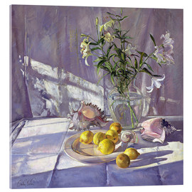 Acrylic print  Still Life Flowers and Lemons - Timothy Easton