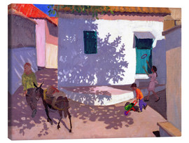 Canvas print  Green Door and Shadows, Lesbos, 1996 - Andrew Macara