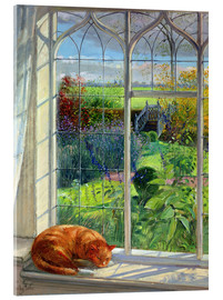 Acrylic print  Cat in the window in summer - Timothy Easton