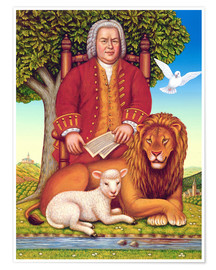 Premium poster  Bach's peaceful kingdom - Frances Broomfield