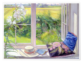 Premium poster  Reading window seat - Timothy Easton