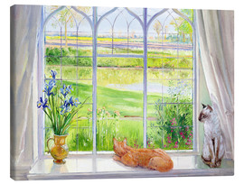 Canvas print  Cats at the window - Timothy Easton