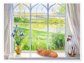 Premium poster  Cats at the window - Timothy Easton