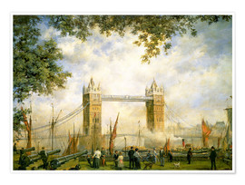 Premium poster  Tower Bridge view from the Tower of London - Richard Willis
