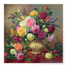 Premium poster  Roses from a Victorian Garden - Albert Williams