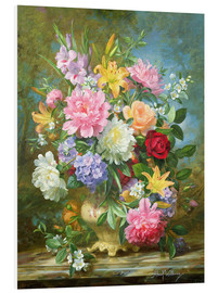 Foam board print  Peonies and mixed flowers - Albert Williams