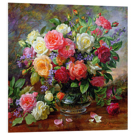 Foam board print  Roses - the perfection of summer - Albert Williams