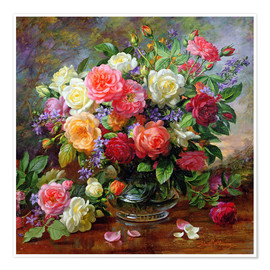Premium poster  Roses - the perfection of summer - Albert Williams