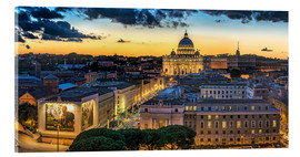 Acrylic print  Roma St. Peters dome - FineArt Panorama