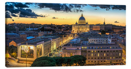 Canvas print  Roma St. Peters dome - FineArt Panorama