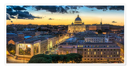 Premium poster  Roma St. Peters dome - FineArt Panorama