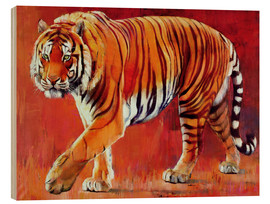 Wood print  Bengal Tiger - Mark Adlington