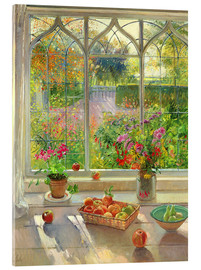 Acrylic print  Overlooking the garden - Timothy Easton