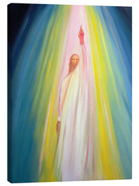Canvas print  Jesus Christ shows us the way to God the Father, 1995 - Elizabeth Wang