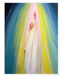 Premium poster  Jesus Christ shows us the way to God the Father, 1995 - Elizabeth Wang