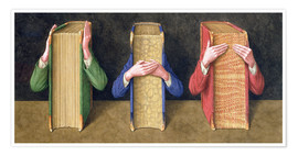 Premium poster  Three Wise Books, 2005 - Jonathan Wolstenholme