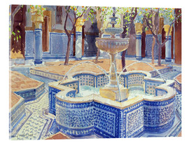 Acrylic print  The blue fountain - Lucy Willis