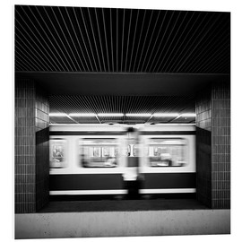Foam board print  Rush hour Munich - Richard Grando