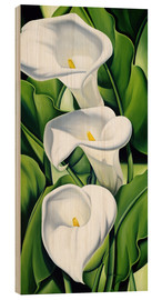 Wood print  Lily - Catherine Abel