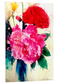 Foam board print  Peony and poppy, 2014 - Alyzen Moonshadow