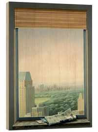 Wood print  New York Central Park - Lincoln Seligman