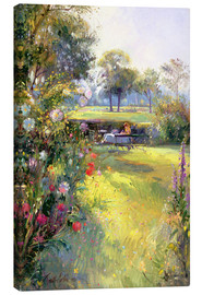 Canvas print  Reading in the Garden - Timothy Easton