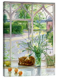 Canvas print  Sleeping Cat in the Window - Timothy Easton