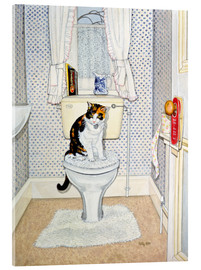 Acrylic print  Cat on the Loo - Ditz