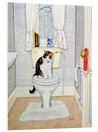 Foam board print  Cat on the Loo - Ditz