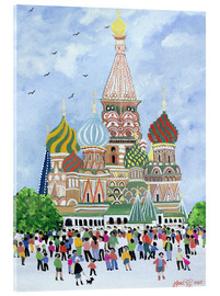 Acrylic print  St. Basil's Cathedral, Red Square, 1995 - Judy Joel