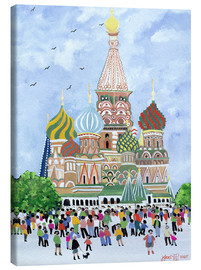 Canvas print  St. Basil's Cathedral, Red Square, 1995 - Judy Joel