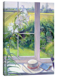Canvas print  Reading corner in the window, detail - Timothy Easton