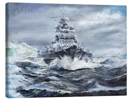 Canvas print  Bismarck off the Greenland coast - Vincent Alexander Booth