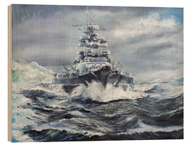 Wood print  Bismarck off the Greenland coast - Vincent Alexander Booth
