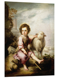 Foam board print  The Good Shepherd - Bartolome Esteban Murillo