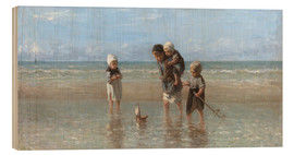 Wood print  Children of the sea - Jozef Israels