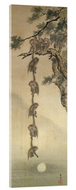 Acrylic print  Monkeys reaching for the Moon - Japanese School