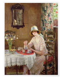 Premium poster  Afternoon tea - William Henry Margetson