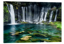 Acrylic print  Turquoise blue waterfalls - Jan Christopher Becke
