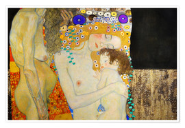 Premium poster  The Three Ages of Woman (Detail) - Gustav Klimt