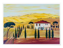 Premium poster Southern Tuscany