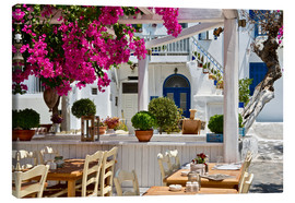 Canvas print  Tavern on Mykonos island - Ellen Rooney