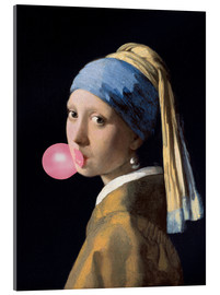 Acrylic print  The Girl with a Pearl Earring (gum)